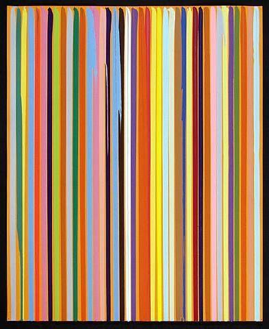 Poured Lines: Orange - Ian Davenport