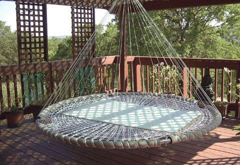 Outdoor Or Indoor Rigid Hammock Or Hanging Couch Diy