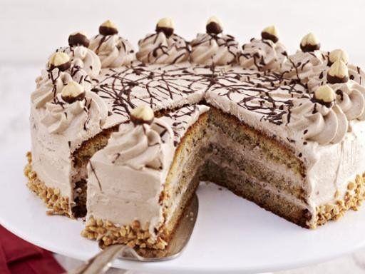 Festliche Haselnusstorte - (Ombre Cake)