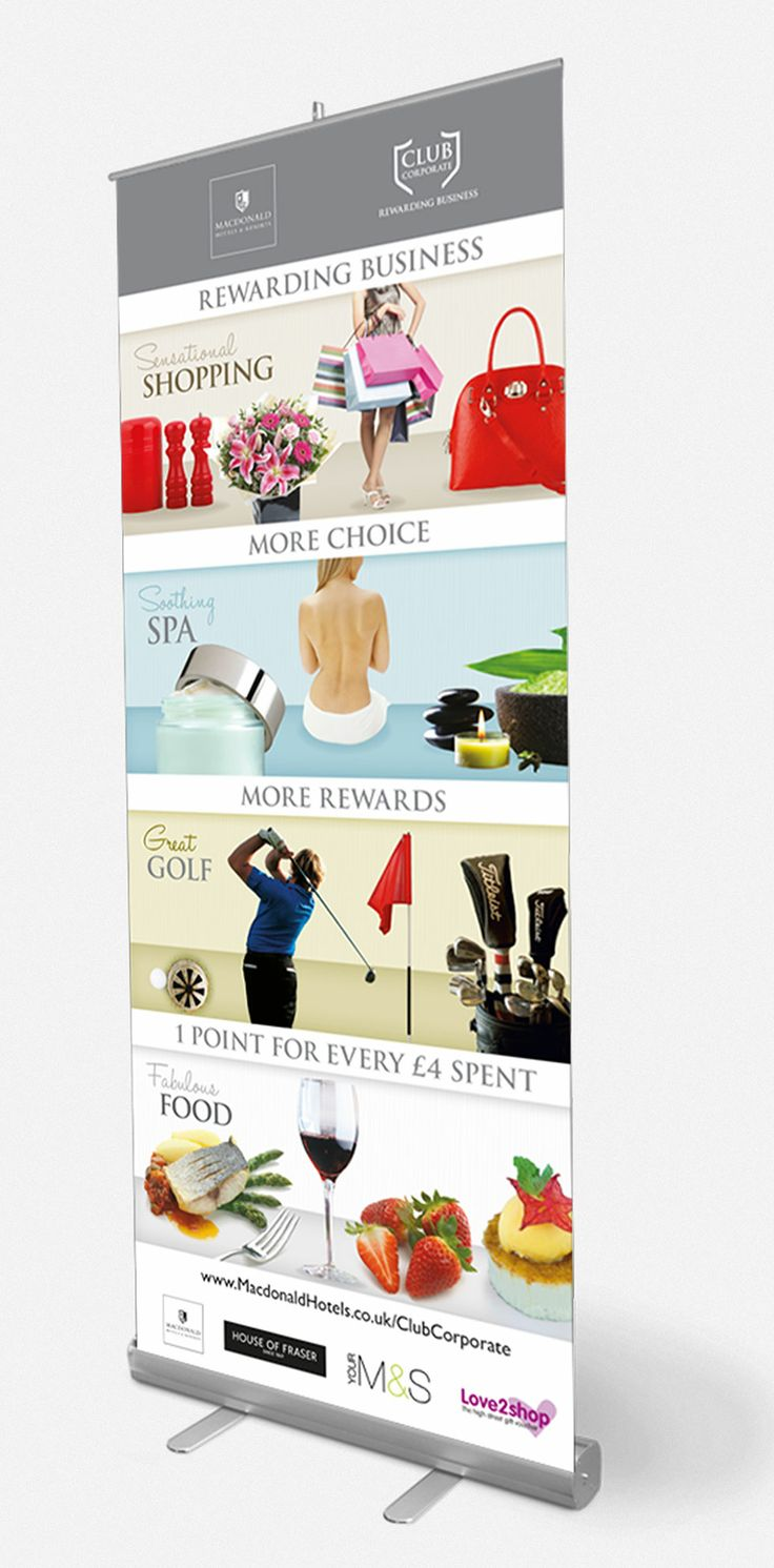 IM London: Macdonald Hotels  Resort | Pull-up banner