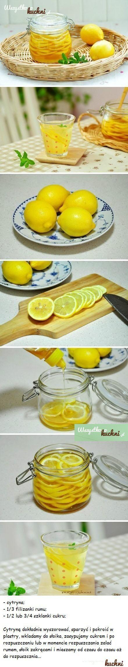 Przepis na rumowo - cytrynową nalewkę do herbaty...