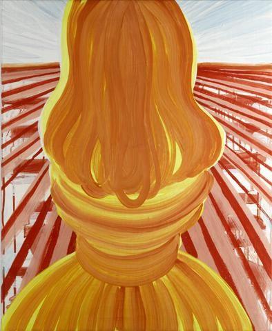 Tanja Smit Untitled (salt pillar). 2006 egg tempera on canvas 85 x 70 cm VIA