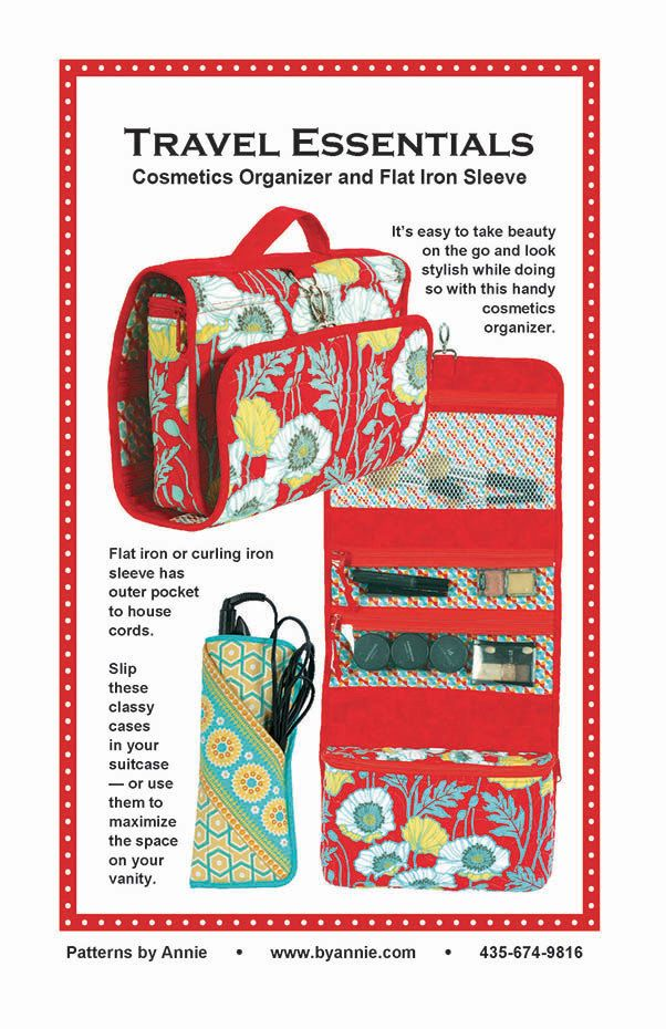 Travel Essentials  Cosmetic Makeup Organizer by PinkDoorFabrics, $9.50