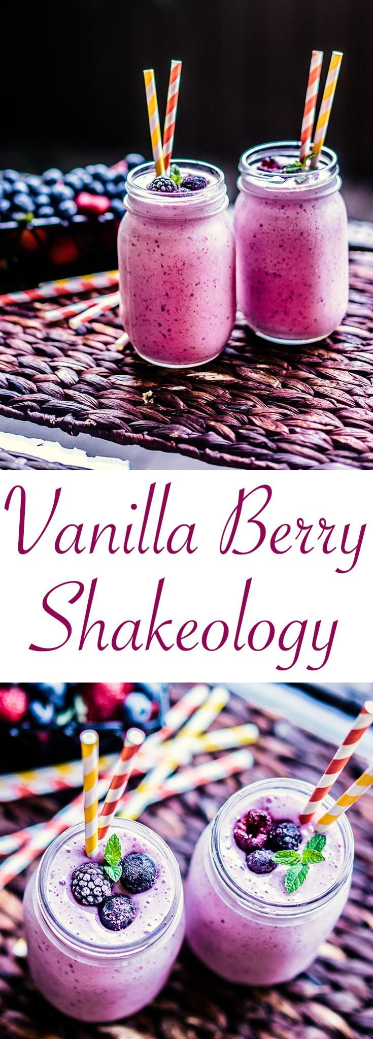 Vanilla Berry Delight Shakeology -- Here's an easy variation on Vanilla Shakeology that only requires some mixed berries and a little something special to make it extra smooth and creamy. Get the recipe here! // shakes // smoothies // recipes // breakfasts // snacks // beachbody // beachbody blog
