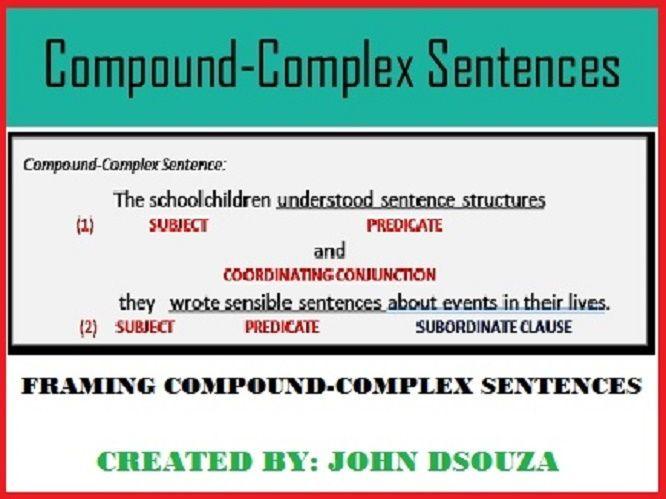 M s de 25 ideas incre bles sobre Compound complex sentence en – Compound Complex Sentence Worksheets