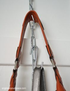 DIY Hanging Purse Organizer - a length of chain (you can get this at any
