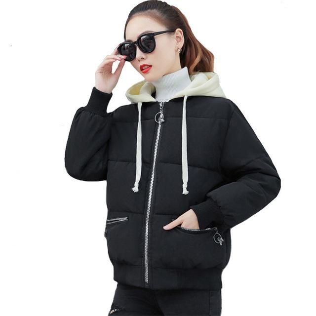 New collection Korean -style women's winter jacket chic short coats fashion embroidery cotton wadded coat feminina inverno mujer