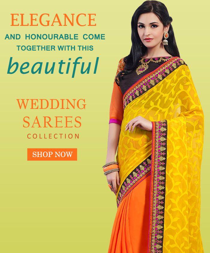 BUY DESIGNER SAREES ONLINE SHOPPING http://www.fly2kart.com/sarees-saris.html?utm_content=buffer3a58c&utm_medium=social&utm_source=pinterest.com&utm_campaign=buffer Sale up to 50% off!!! +91-8000800110 CALL OR WHATSAPP