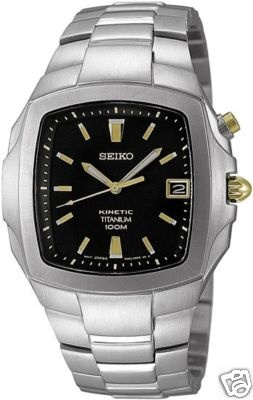 SEIKO KINETIC TITANIUM MENS WATCH SKA361P1