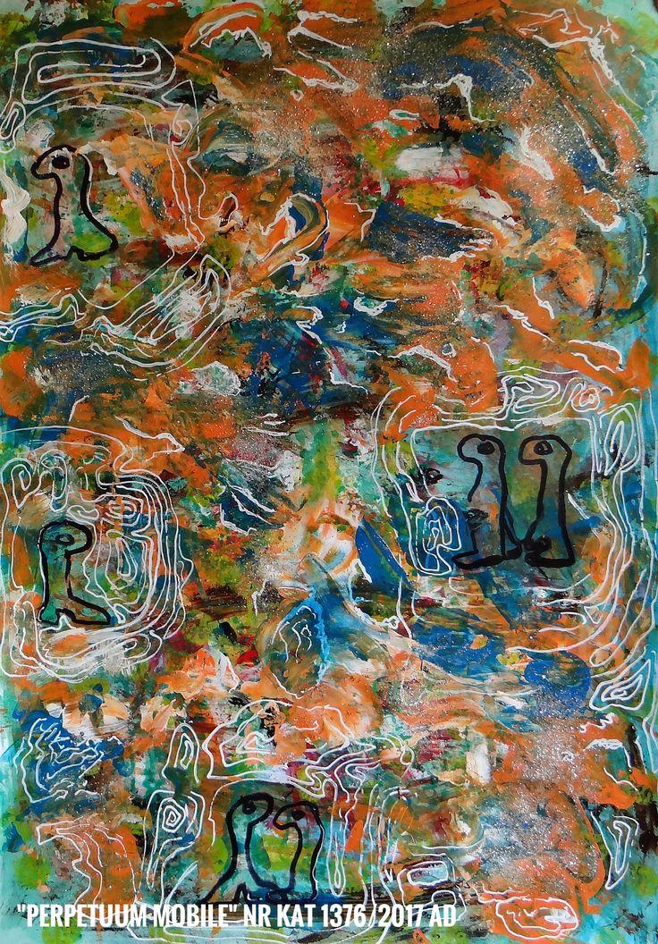 Malarstwo  Wandy Murat   Obraz o wym: 70x50cm malowany akrylem,karton  Tytuł i nr. Katalogu na dole obrazu.....