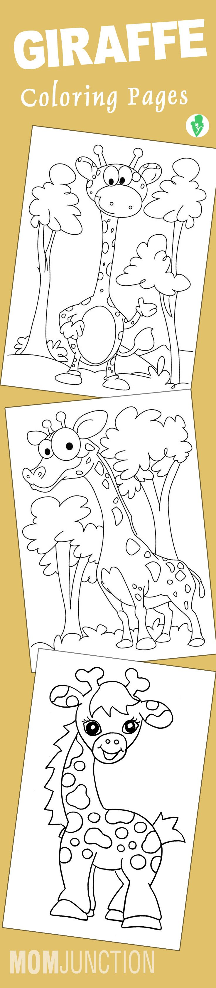 Coloring pages yokai - 20 Cute Giraffe Coloring Pages For Your Toddlers