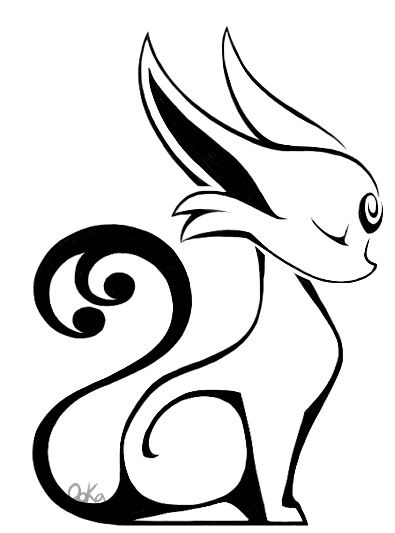 Espeon tribal tattoo