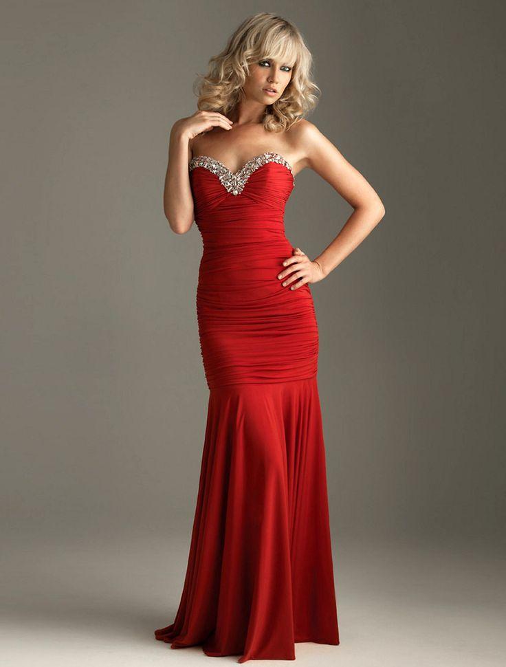 длинные красные вечерние платья в картинках она своим