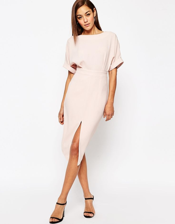 Image 1 of ASOS Wiggle Dress with Split Front