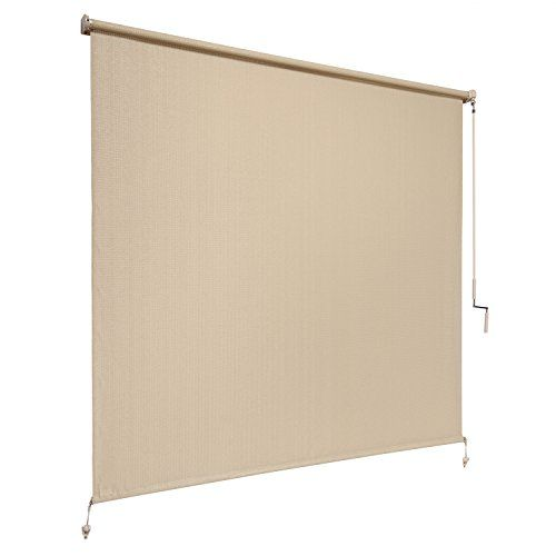 Coolaroo Exterior Cordless Roller Shade 8ft By 6ft Sesame Coolaroo