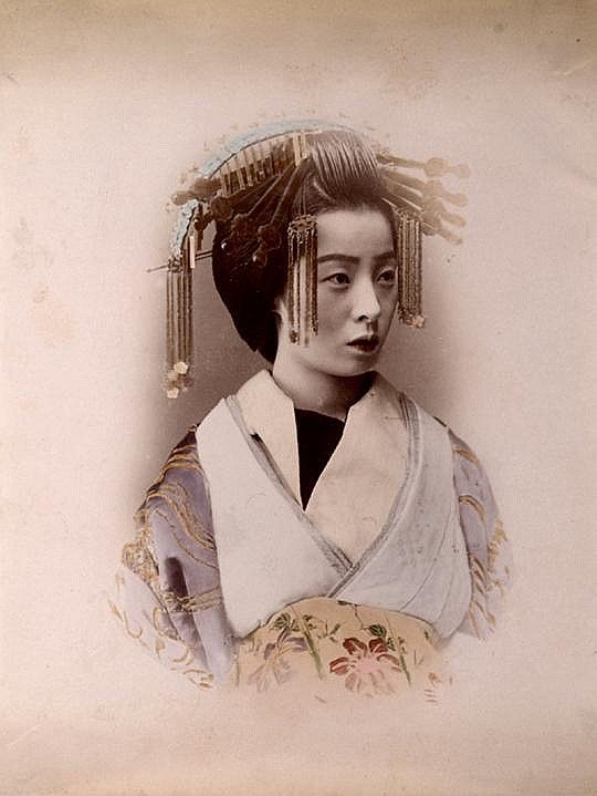 """Kyoto Courtesan. Japanese Oiran of Kyoto Oiran were courtesans in Japan. The oiran were considered a type of yūjo """"woman of pleasure"""" or prostitute. However, they are distinguished from the yūjo in that they were entertainers, and many became celebrities of their times outside the pleasure districts"""