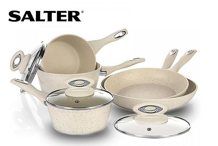 Buy Salter 8pc Non-Stick Marble Effect Induction Pan Set UK deal for just £44.00 £44 instead of £124 (from Eurotrade) for a Salter eight-piece non-stick induction pan set - save 65% BUY NOW for just £44.00