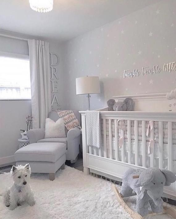 White Star Decals Nursery Wall Decals Wall Stickers Childrens Wall Decor Mixed Size Stars Nursery Baby Room Baby Girl Nursery Room Baby Room Design
