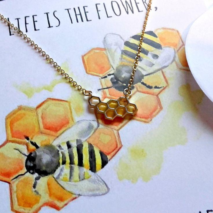 Honeycomb Keepsake Necklace Card