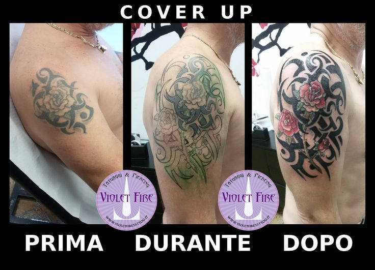 tatuaggio tribale, tatuaggio fiori, tatuaggio rose, tatuaggio rosa, tatuaggio grande, Cover Up tatuaggio Rose Rosse con Tribali - cover-up tattoo - spalla - Violet Fire Tattoo - tatuaggi maranello, tatuaggi modena, tatuaggi sassuolo, tatuaggi fiorano - Adam Raia