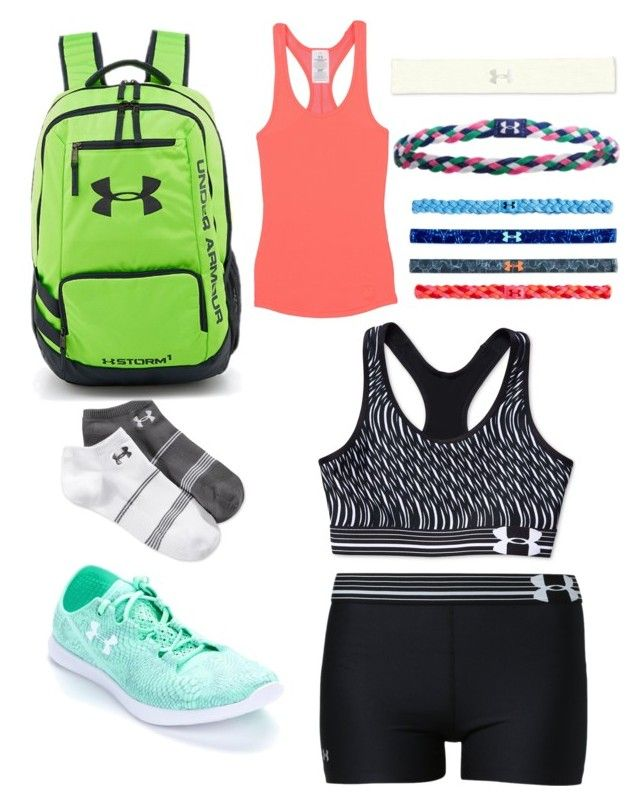 """""""Under armer"""" by brooklyn205 ❤ liked on Polyvore featuring Under Armour"""