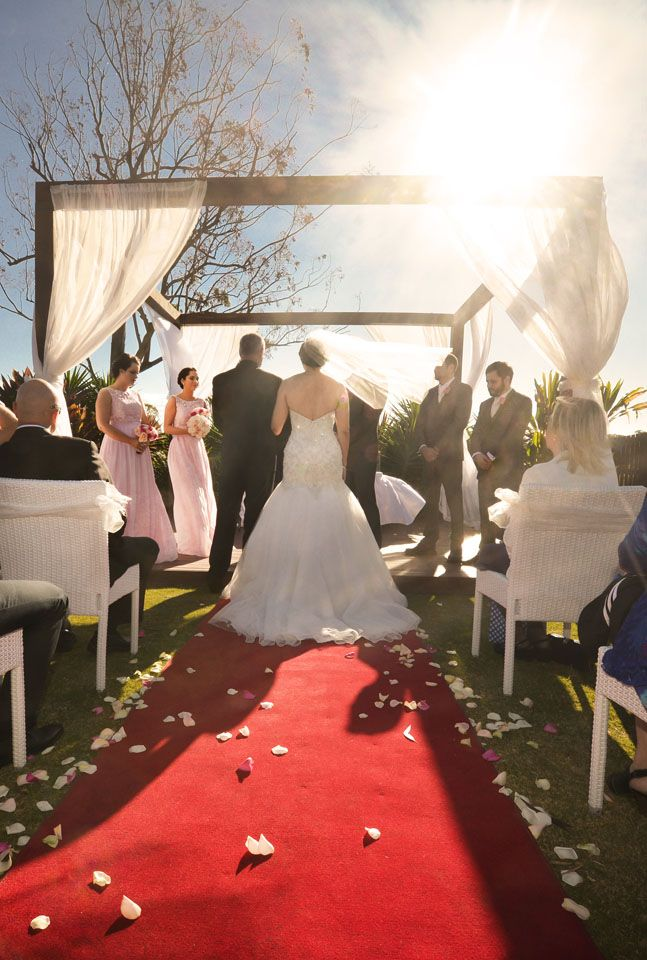A beautiful ceremony held in our Wedding Pavilion for Casey & Chris
