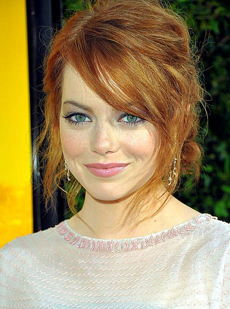 color and side bangs. Love me some Emma Stone