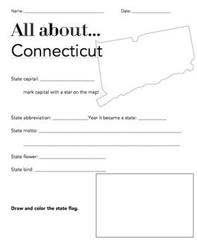 connecticut state fact worksheet elementary version worksheets social studies and students. Black Bedroom Furniture Sets. Home Design Ideas