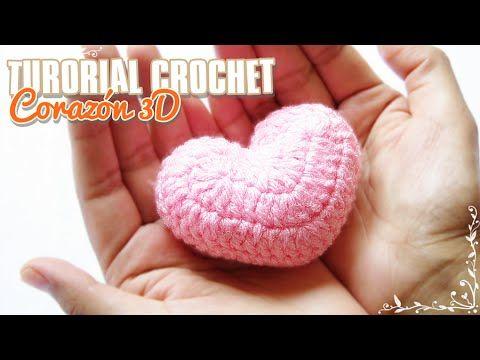 Tutorial corazón a crochet, fácil y rapidísimo | Paso a paso - YouTube