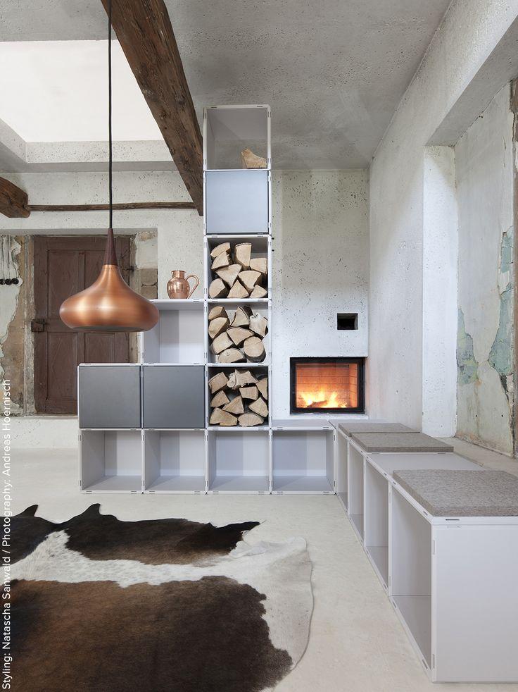 exceptional einfache dekoration und mobel qubing modulares regalsystem #1: qubing Regalsysteme für das Wohnzimmer, egal ob als Raumteiler, Sitzmöbel,  Bücherregal. Ein