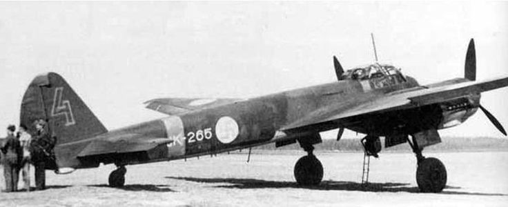 Finnish Air Force Junkers Ju 88 A-4. The FAF aircraft code for Ju 88 was JK