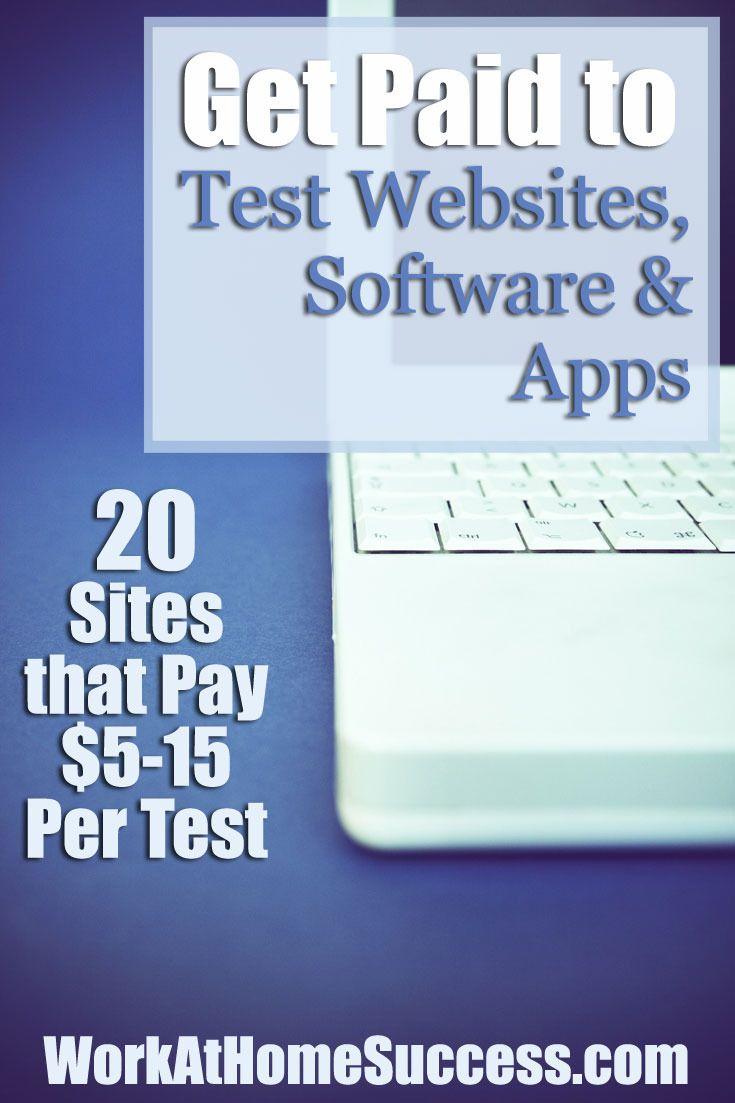 Make money testing websites, software and phone apps. http://www.workathomesuccess.com/get-paid-to-test-websites-software-apps/?utm_campaign=coschedule&utm_source=pinterest&utm_medium=Leslie%20Truex&utm_content=Get%20Paid%20to%20Test%20Websites%2C%20Software%20and%20Apps