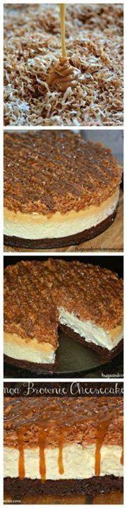 Samoa Cookie Brownie Samoa Cookie Brownie Cheesecake Recipe :...  Samoa Cookie Brownie Samoa Cookie Brownie Cheesecake Recipe : http://ift.tt/1hGiZgA And @ItsNutella  http://ift.tt/2v8iUYW