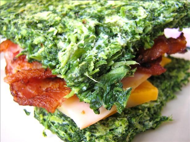 No Carb Spinach Bread - It's called No Carb but it's really Low Carb - There are actually 1.4 carbs per serving. YUM!