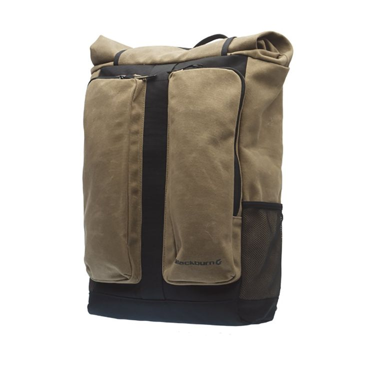 Blackburn Wayside Backpack Pannier Waxed Canvas, One Size. Material: waxed canvas. Volume: 1,159 cu in. Dimensions: 280 x 140 x 415 mm. Pockets: 1 laptop sleeve, 2 external. Number Included: 1.