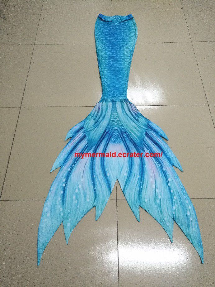 5f9ad9d30a77d4 Aqua+Fabric+Swimmable+Mermaid+Tail +for+Kids+Inserted+with+Soft+Silicone+Monofin