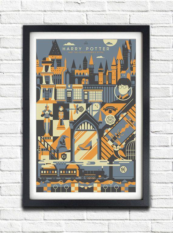 Harry Potter  1  The Philosopher's stone  17x11 Poster door bensmind