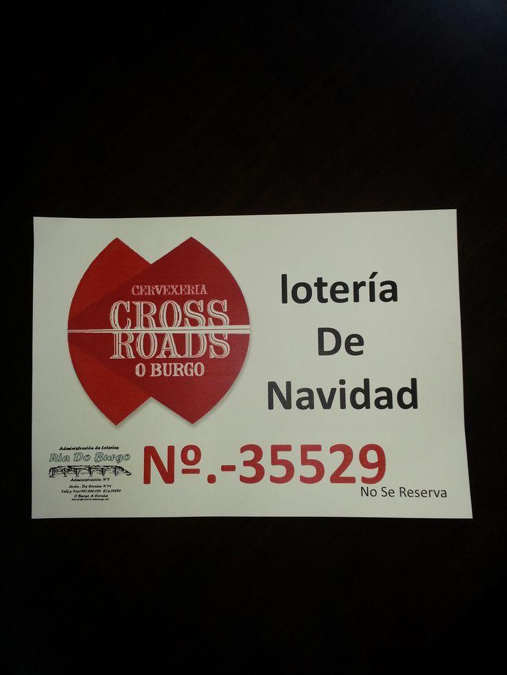 Xa temos dispoñible a lotería de #Nadal de #Cervexería Cross Roads   Este ano toca, si ou si