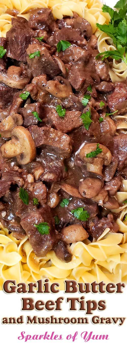 Knoblauchbutter-Rindfleischspitzen und Pilzsoße – #KnoblauchbutterRindfleischsp…