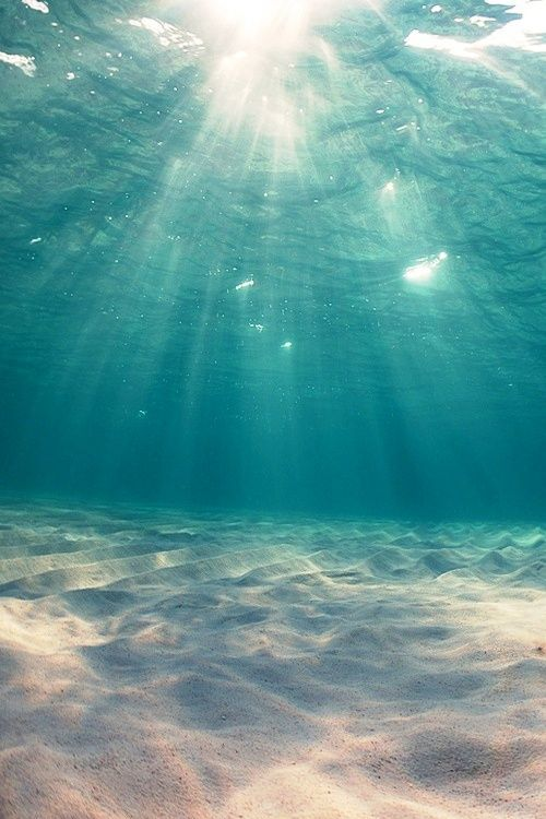 Beneath the blue.