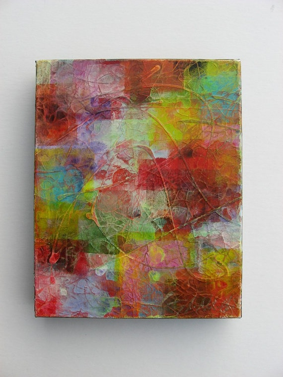 Mixed Media Possibly Tissue Paper With Mod Podge And