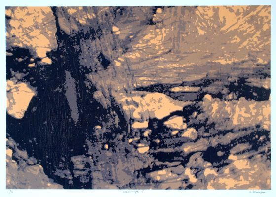 """""""Dreamscape 15"""", one of a series of 24 prints."""