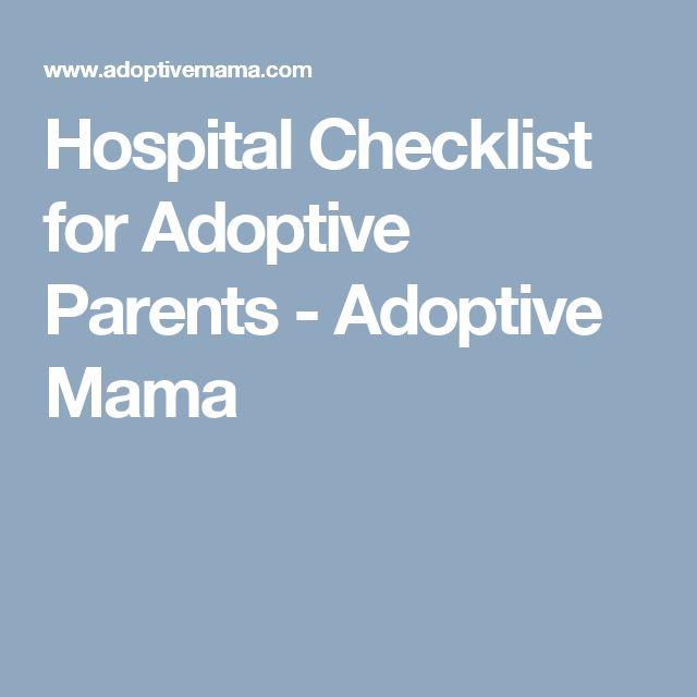 Hospital Checklist for Adoptive Parents - Adoptive Mama