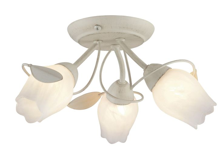 April Cream Brushed 3 Lamp Ceiling Light | Departments | DIY at B&Q