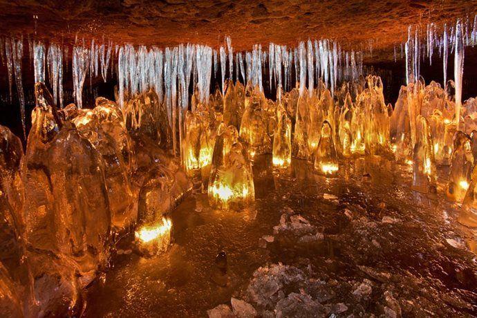 Kudy z nudy - Jeskyně Víl – ledová jeskyně v národním parku České Švýcarsko