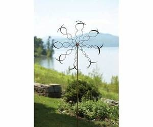 Oval Leaf Wind Spinner Kinetic Spinners WindSpinner Garden & Yard Sculpture