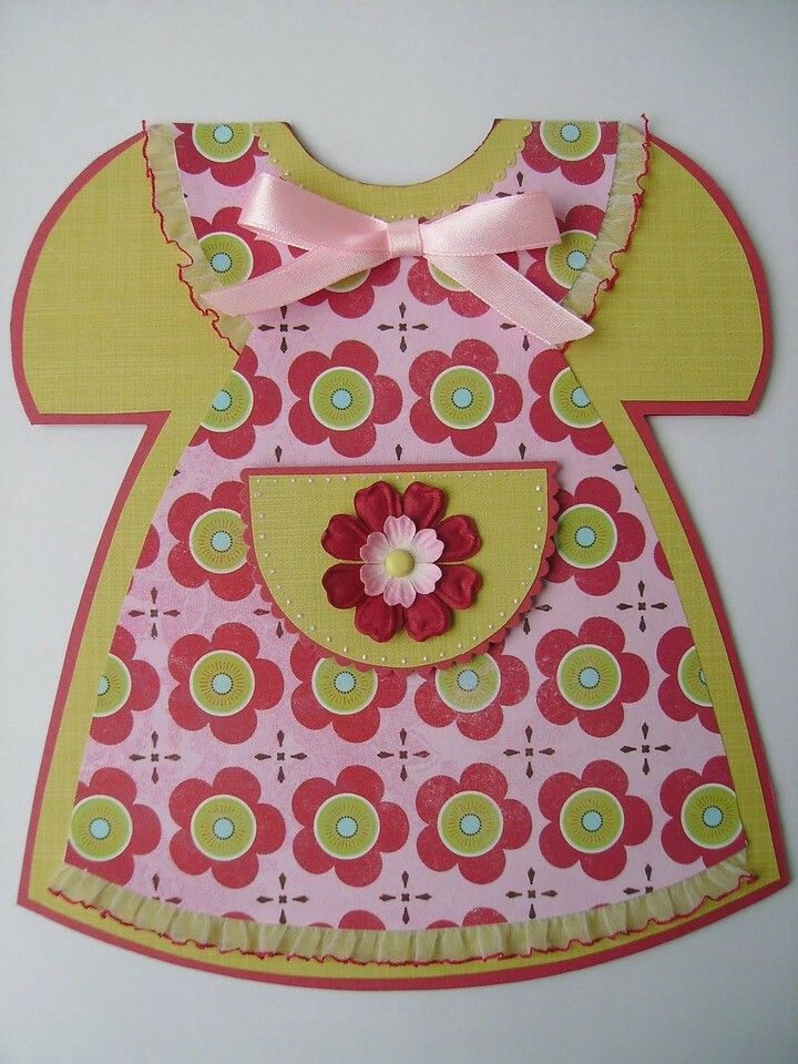 Открытка детское платье своими руками