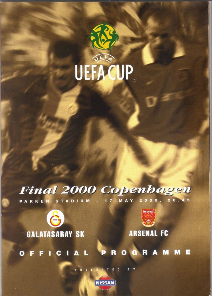 Galatasaray SK v Arsenal 1999/2000 Football Programme UEFA Cup Final