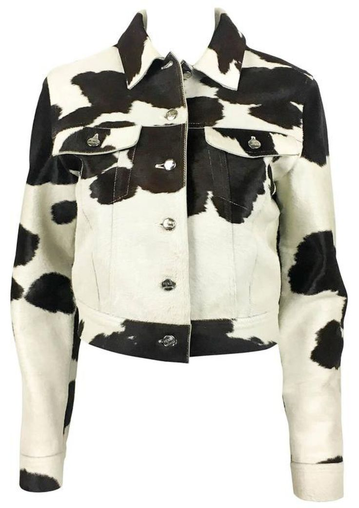 Fendi Numbered Cow Print Ponyskin Jacket - 1990s via House of Pre-Loved - Vintage Boutique. Click on the image to see more!