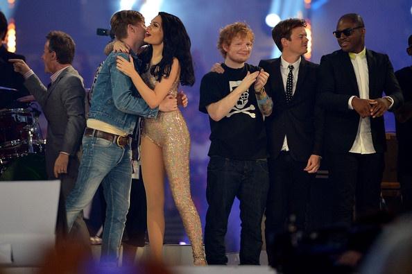 Ricky Wilson, Jessie J, Ed Sheeran and Taio Cruz. Olympic closing ceremony.